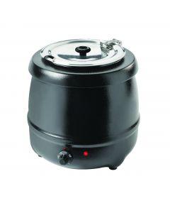 Kotlíkový ohrievač na polievku, čierný, 400 W, Kapacita 10L
